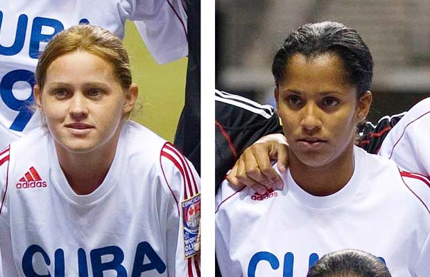 Team photo of Cuban team during the CONCACAF Women's Olympic