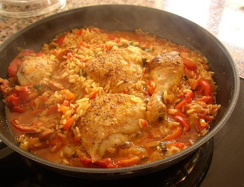 : Rice with Chicken with a Cuban Twist. (Photos) ** ARROZ CON POLLO ...