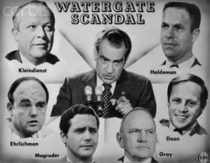 the involvement of central intelligence agency in the watergate scandal Nixon denied any personal involvement with the watergate burglary, but the courts forced him to yield tape recordings of conversations between the president and his advisers indicating that the president had, in fact, participated in the cover -up, including an attempt to use the central intelligence agency to divert the fbi's.